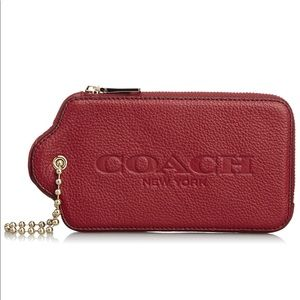 COACH 52507 Grain Leather Hangtag Multifunction